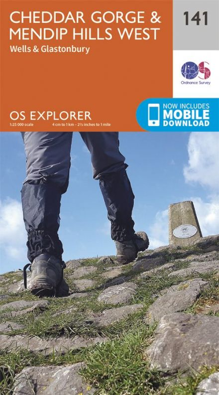 OS Explorer 141 - Cheddar Gorge & Mendip Hills West, Wells & Glastonbury